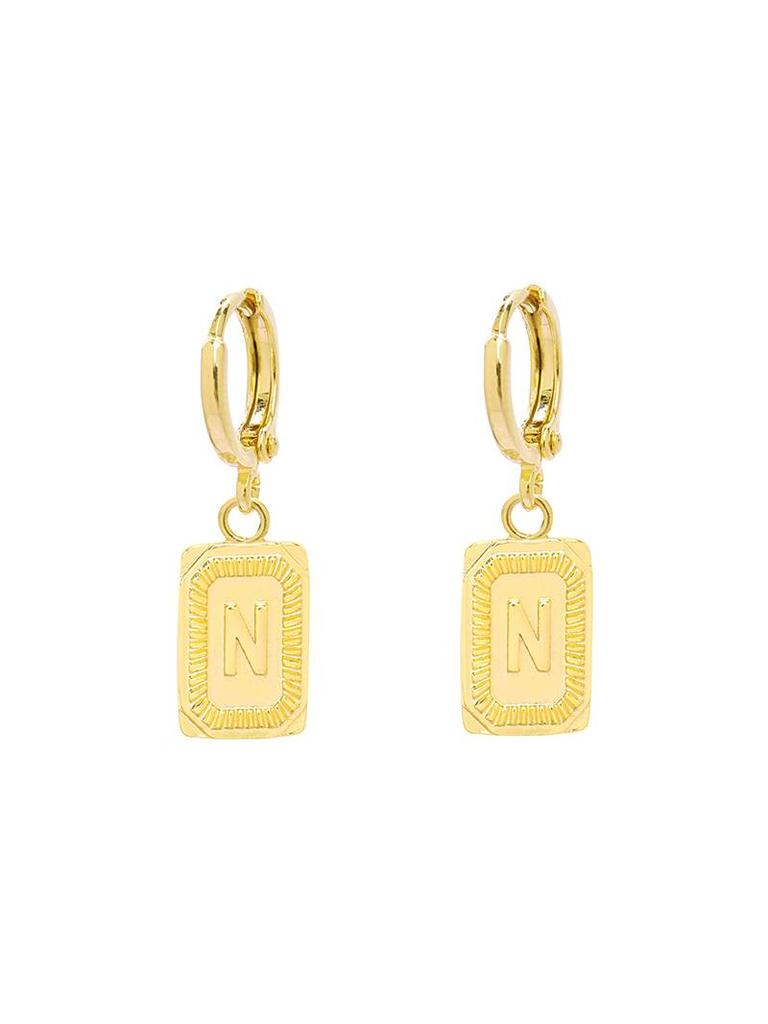 Yehwang Earrings Initial N