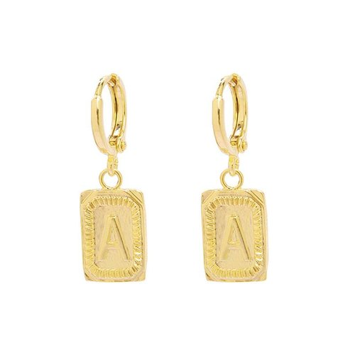 Yehwang Earrings Initial A