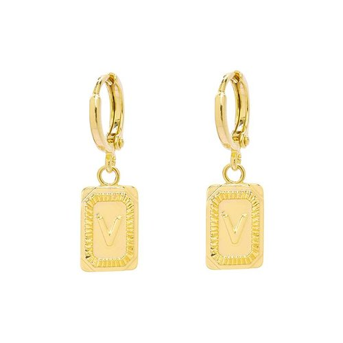 Yehwang Earrings Initial V