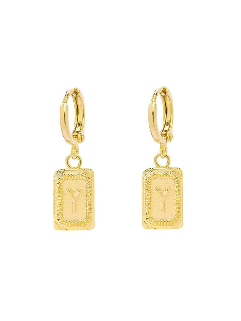 Yehwang Earrings Initial Y