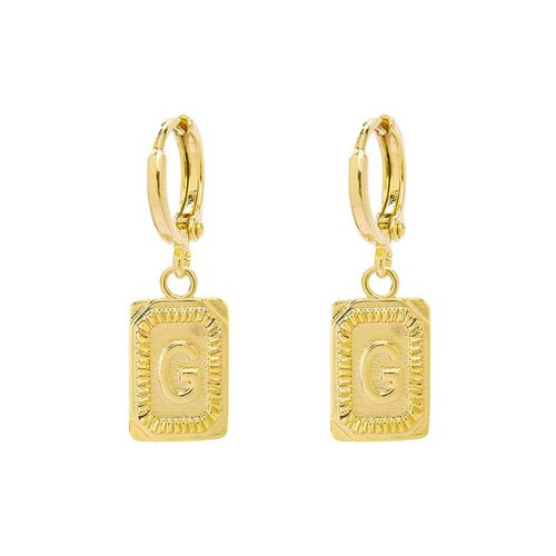 Yehwang Earrings Initial G