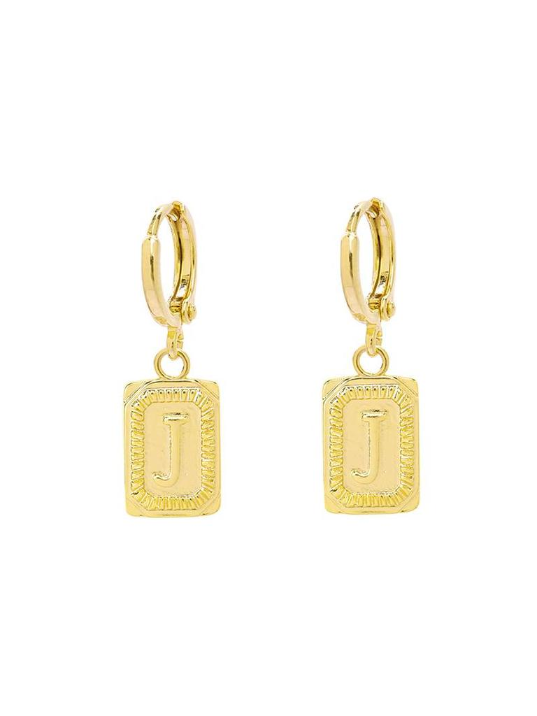 Yehwang Earrings Initial J