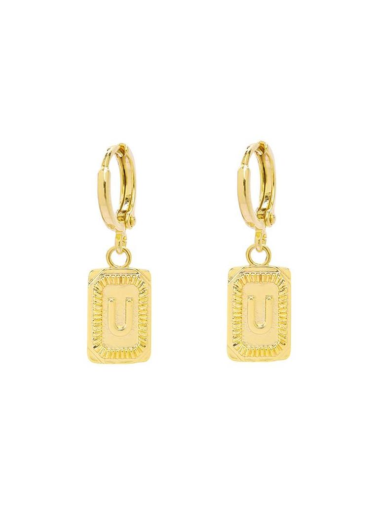 Yehwang Earrings Initial U