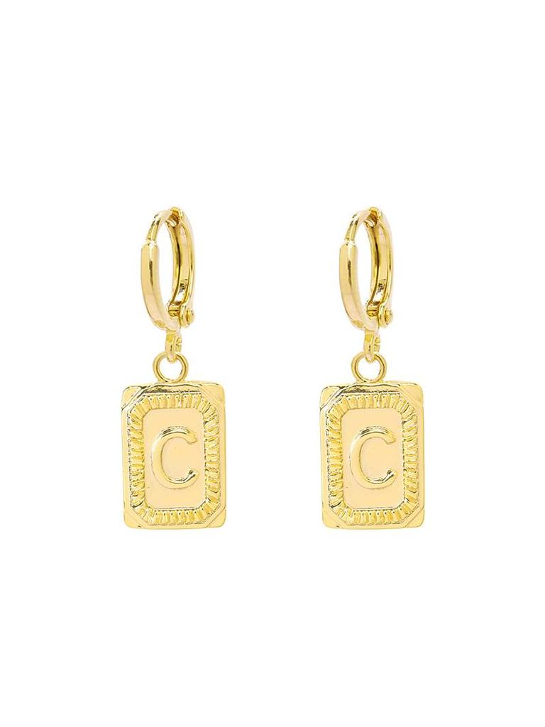 Yehwang Earrings Initial C