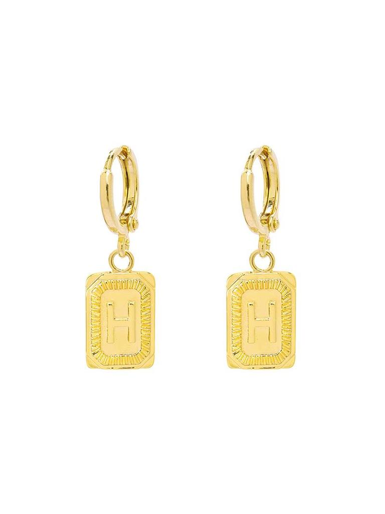 Yehwang Earrings Initial H