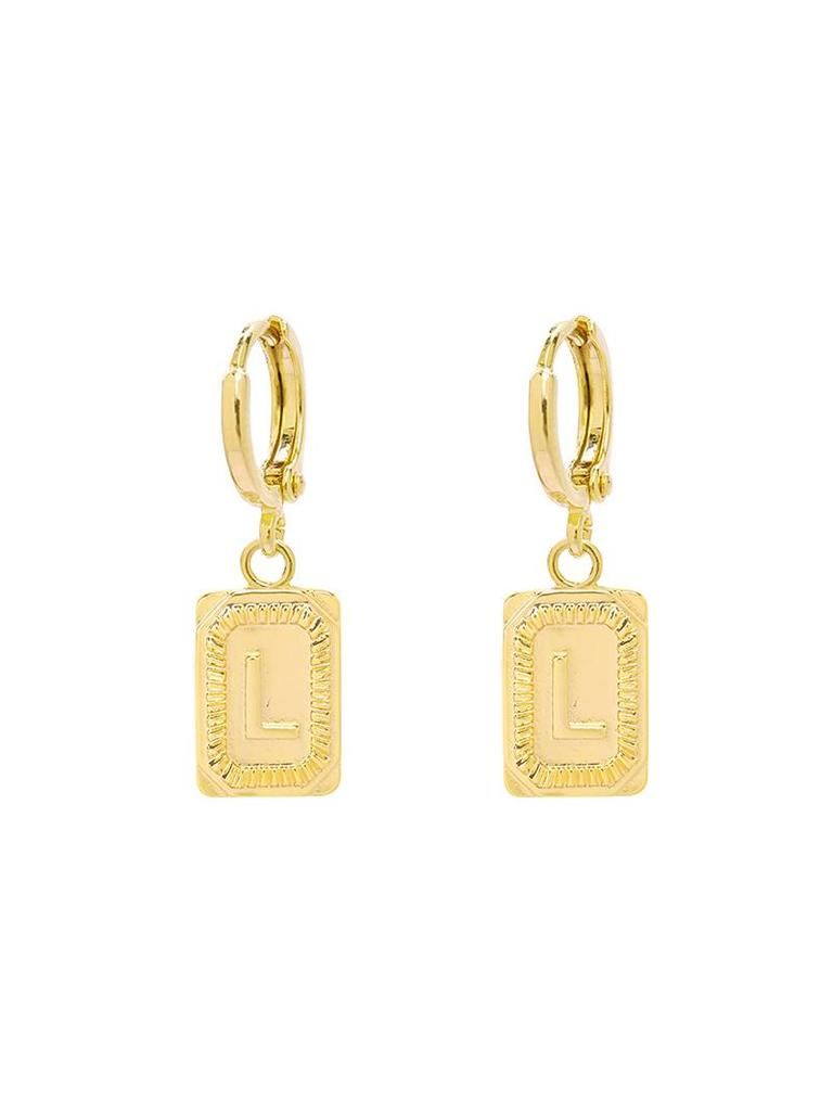 Yehwang Earrings Initial L
