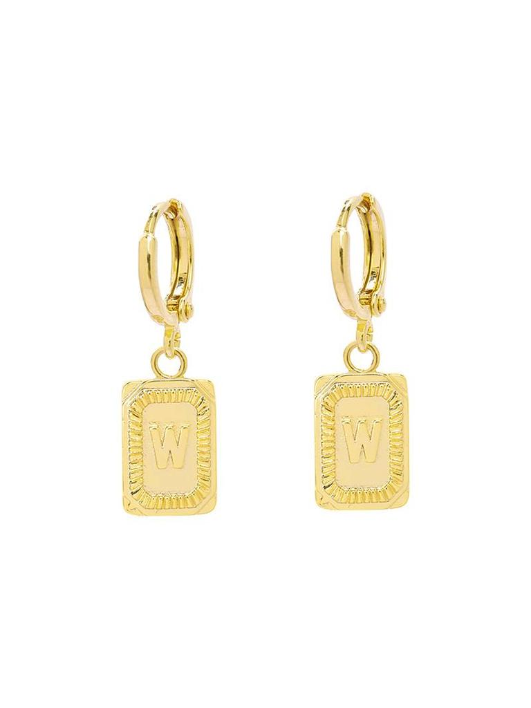 Yehwang Earrings Initial W