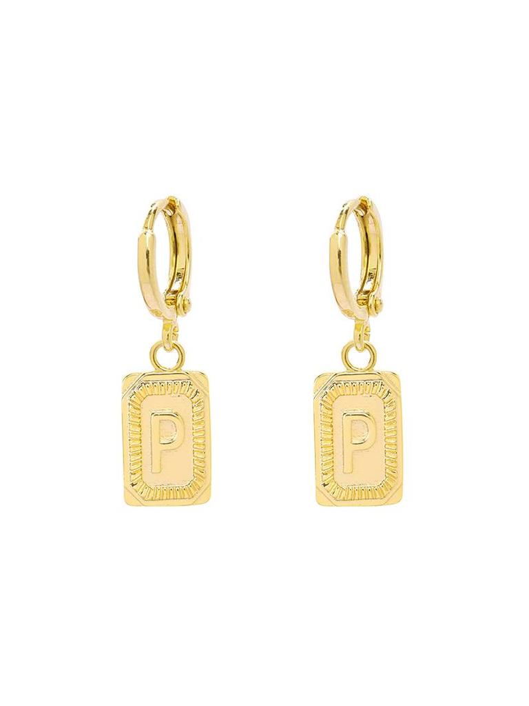 Yehwang Earrings Initial P