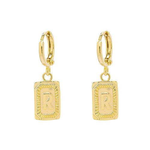 Yehwang Earrings Initial R