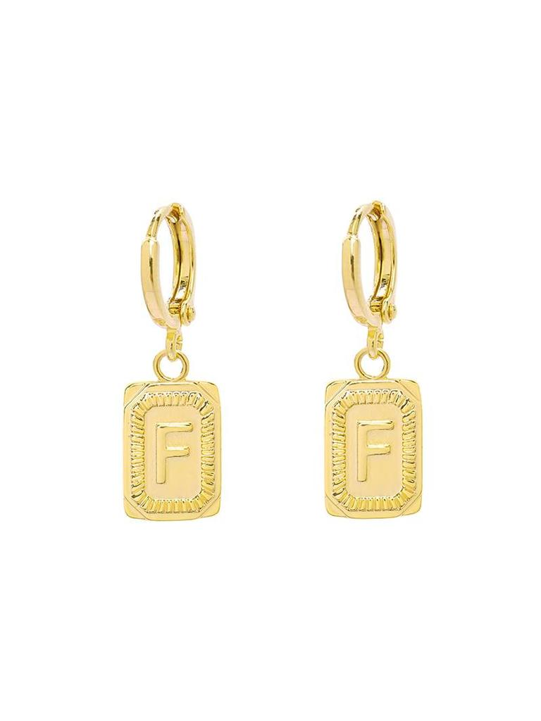 Yehwang Earrings Initial F