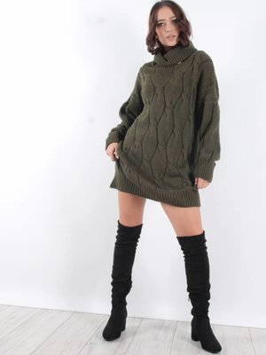 Ladylike Cable sweater dress