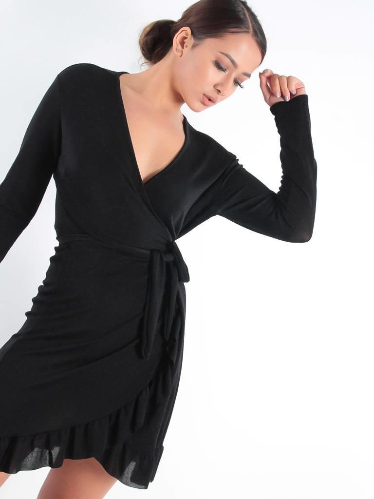Ladylike Wrap V-glitter dress