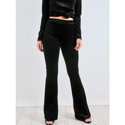 Ladylike Amé velvet flared trousers