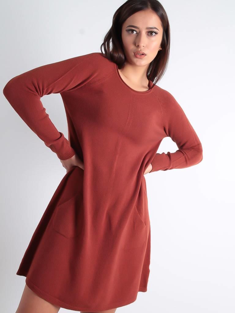 Ladylike Jony long sweater dress camel