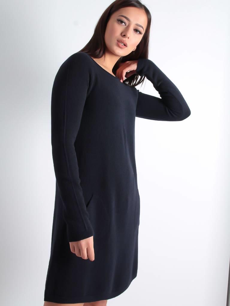 Ladylike Jony long sweater dress darkblue