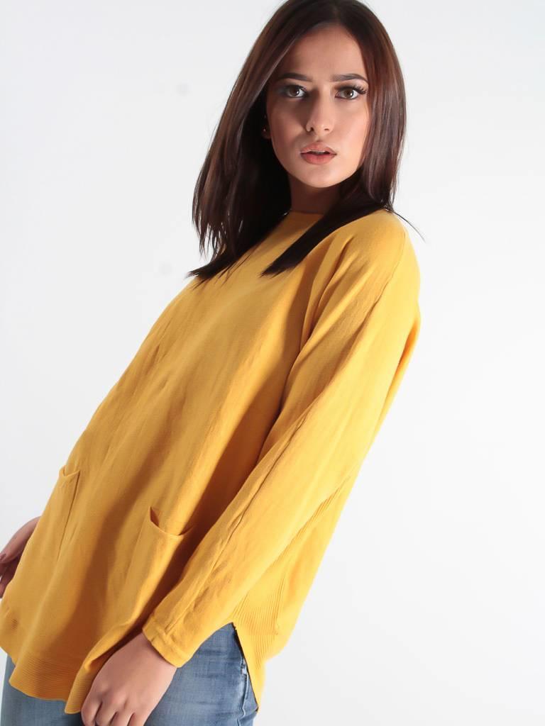 Ladylike Jumper pockets mustard