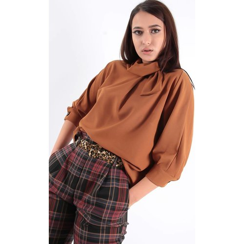 Miss Miss Blouse bow camel