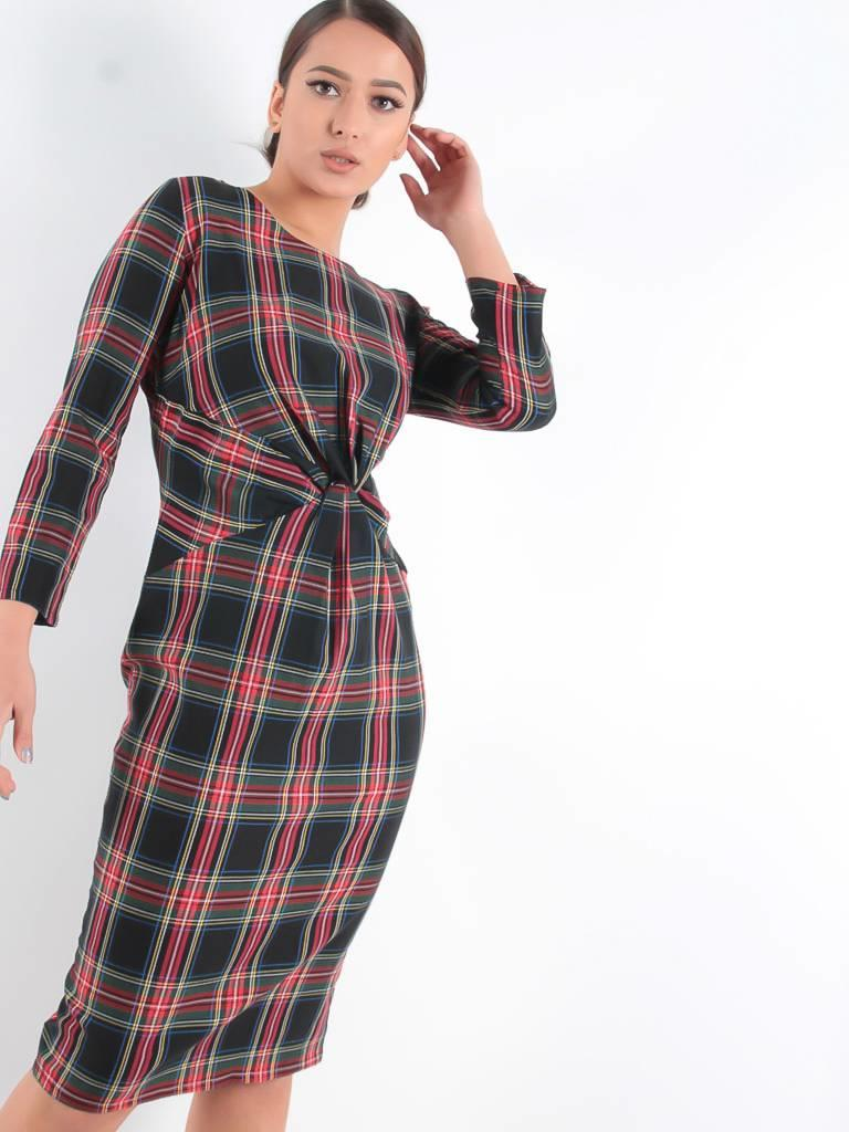 Miss Miss Intero dress tartan black