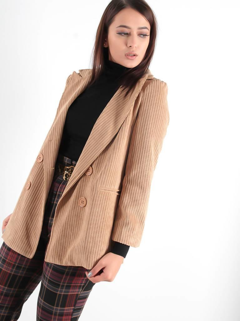 Miss Miss Giacca corduroy jacket camel