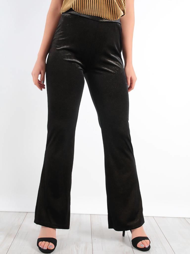 Ambika Velvet flared pants gold