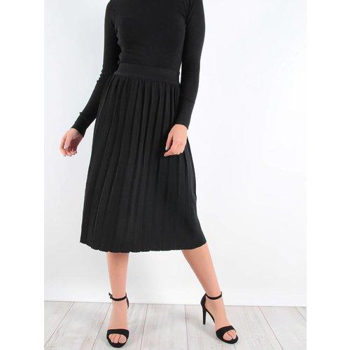 By Clara Glitter plisse skirt