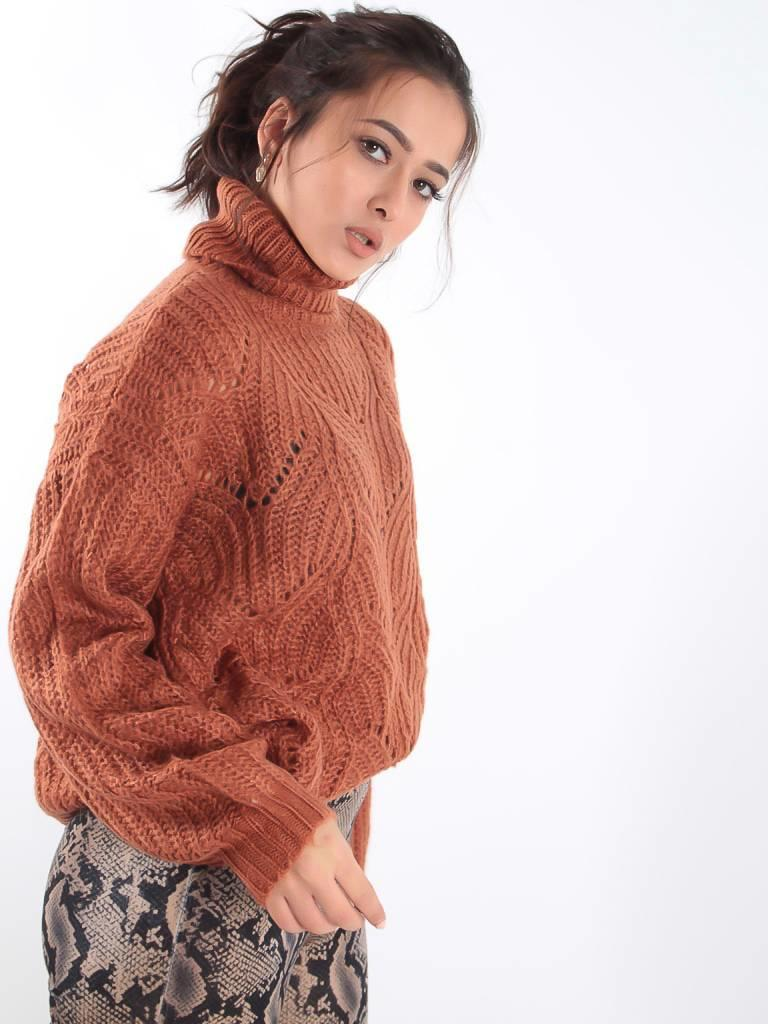 Peace n' love Cable knit jumper
