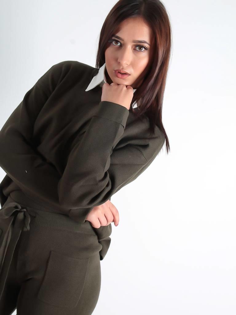 Vintage Dressing Mim jumper khaki