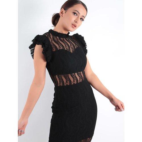 Lucy Wang Elegant lace dress black