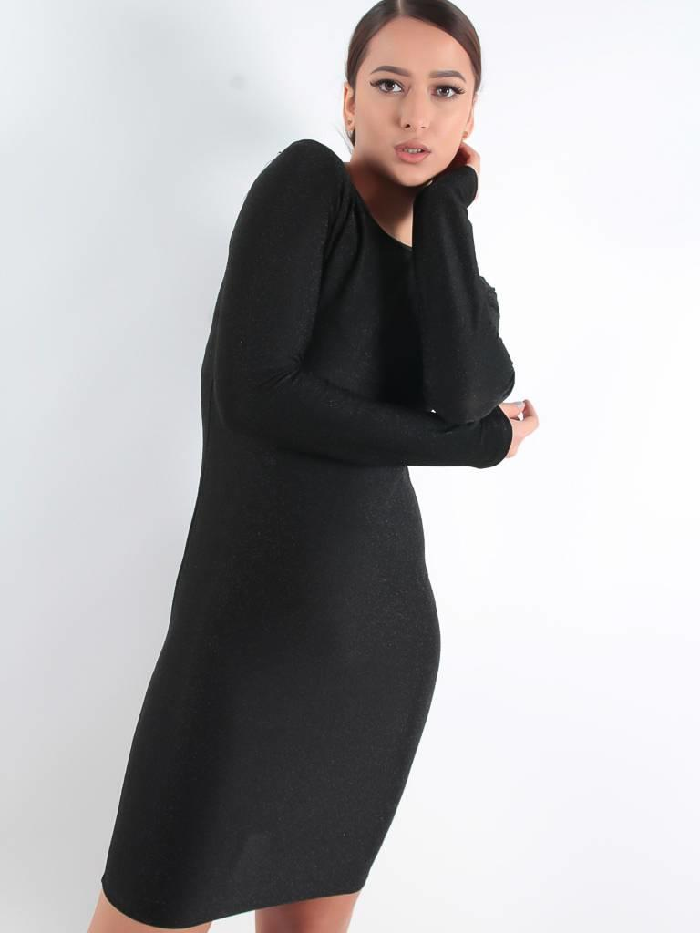 Papillonne Classic glitter dress black