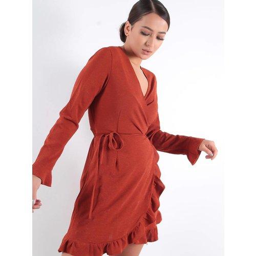 By Clara Wrappy dress rusty