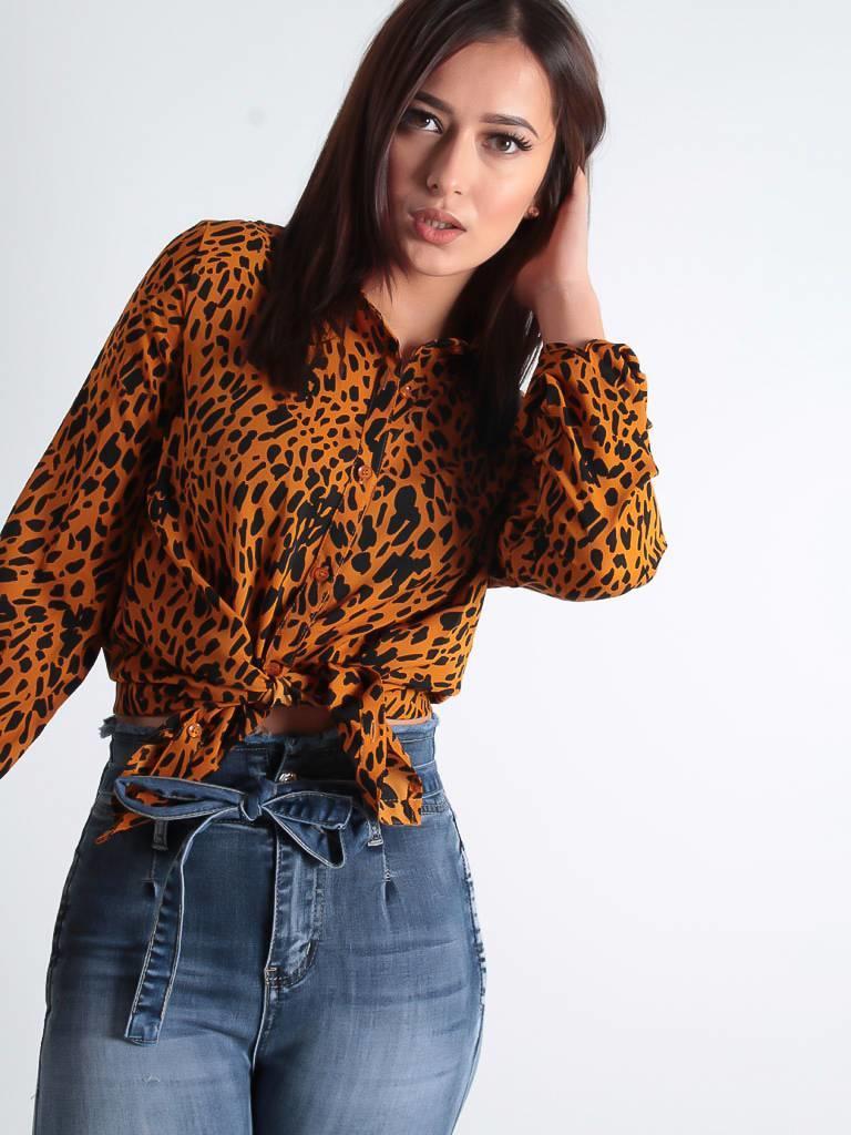 By Clara Print blouse