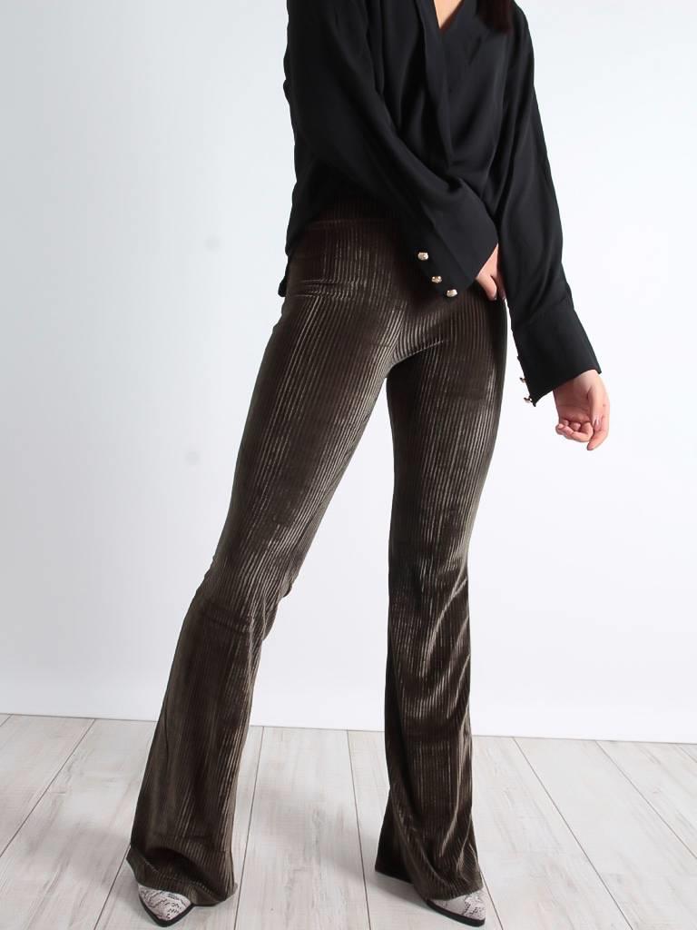 Voyelles Rib flared pants