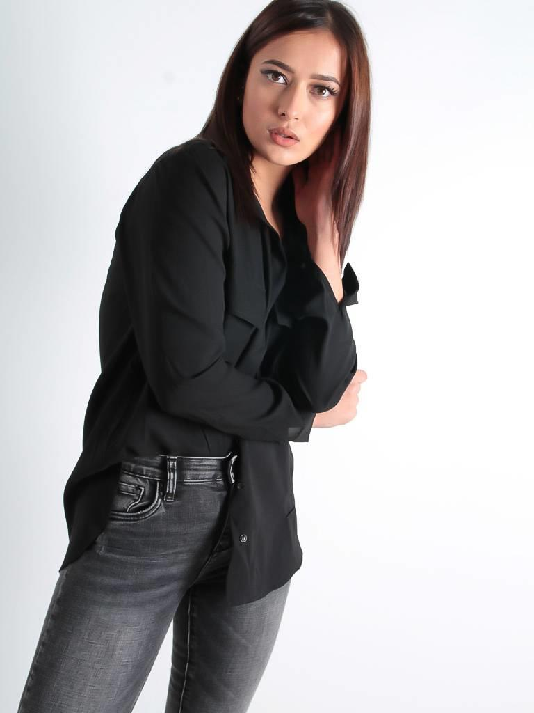 Voyelles Big classy blouse black