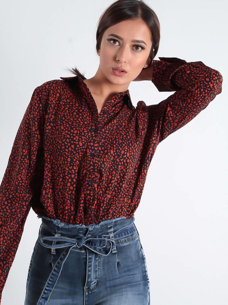 By Clara Little dot blouse black