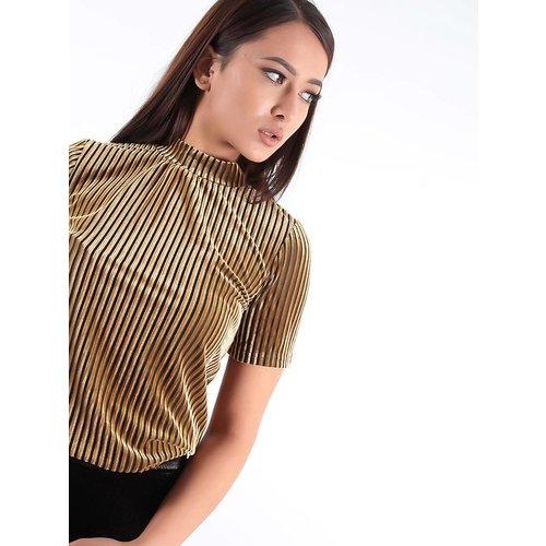 Ivivi Velvet stripe shirt mustard