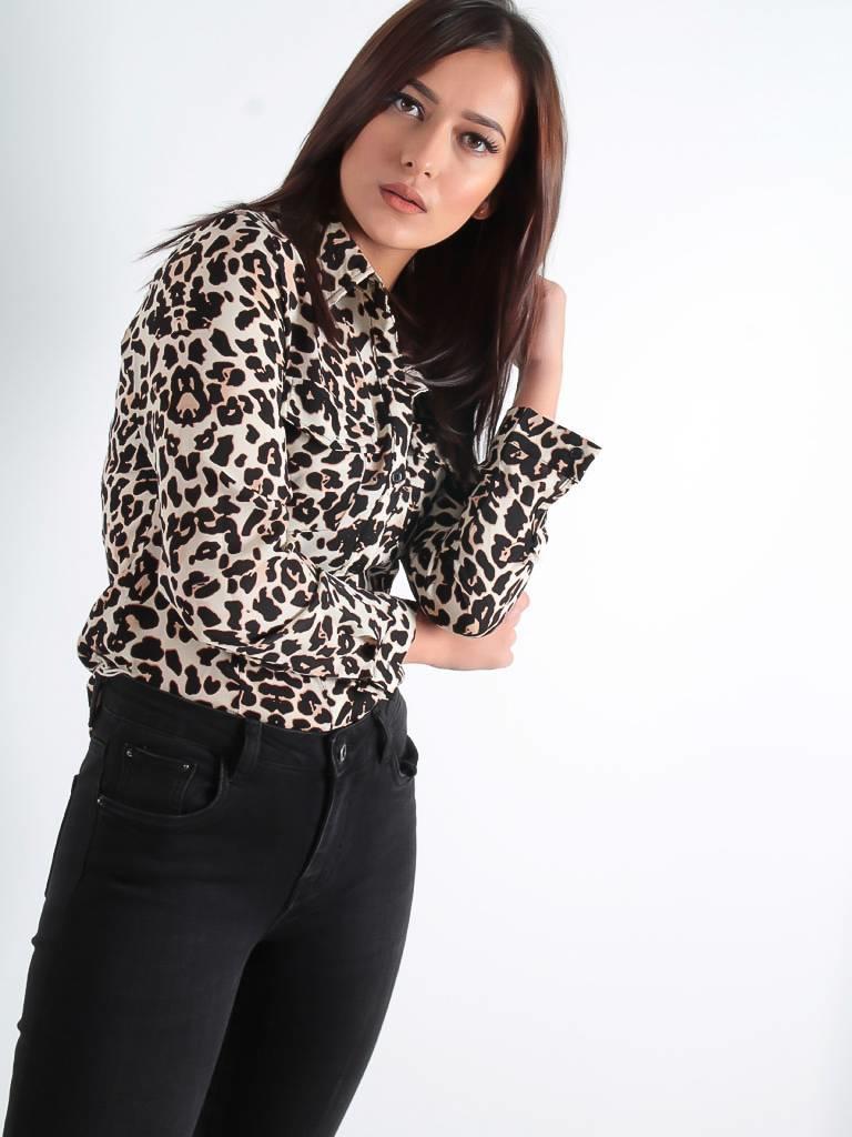 SHK Jungle blouse beige