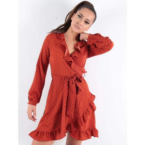 Ladylike Dots dress rusty