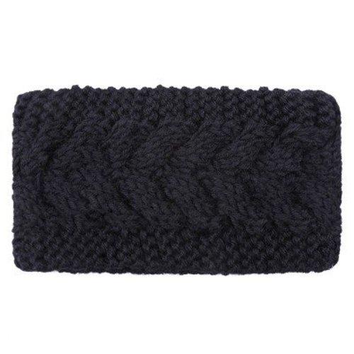 Ladylike Hoofdband Winter Braid black