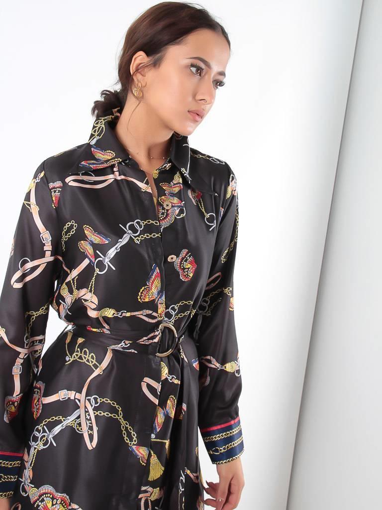 Akoz Key lock long dress