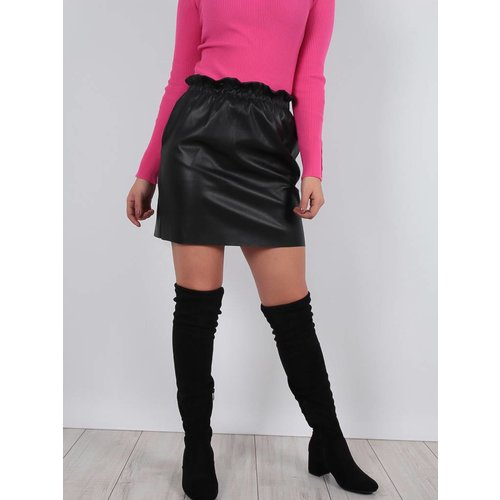 Cherry Koko Basic leather look skirt