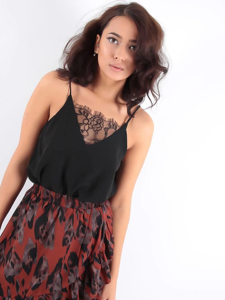 Vintage Dressing Sunny lace top black