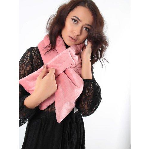 Yehwang Velvet puffer scarf