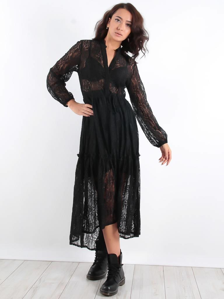 Kilibbi Fame long lace dress black