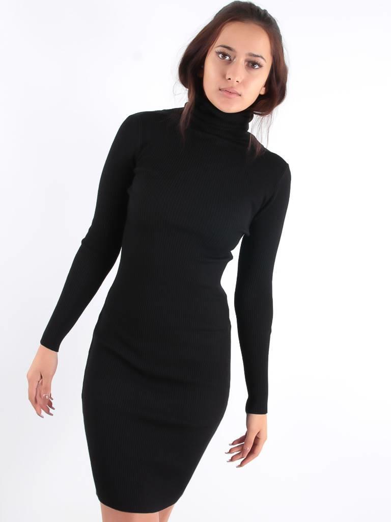 Cherry Koko Fay rib dress black