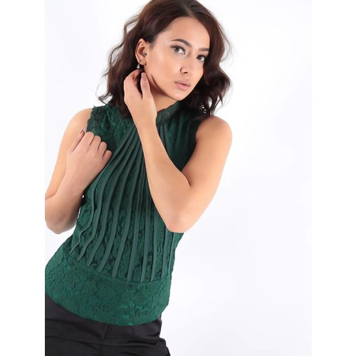 Voyelles Top lace green
