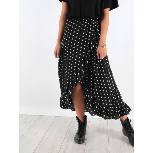 New Collection Ruffle long skirt dots