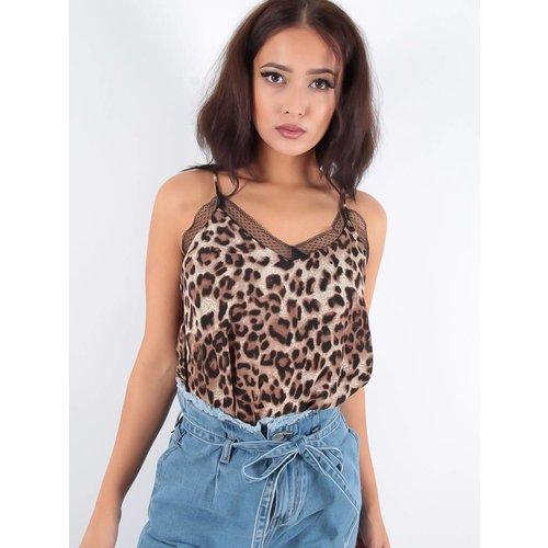 Vintage Dressing Leopard lace top