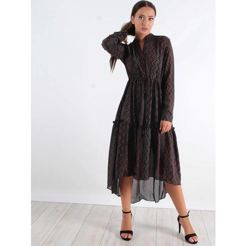 Cherry Koko ZigZag long dress