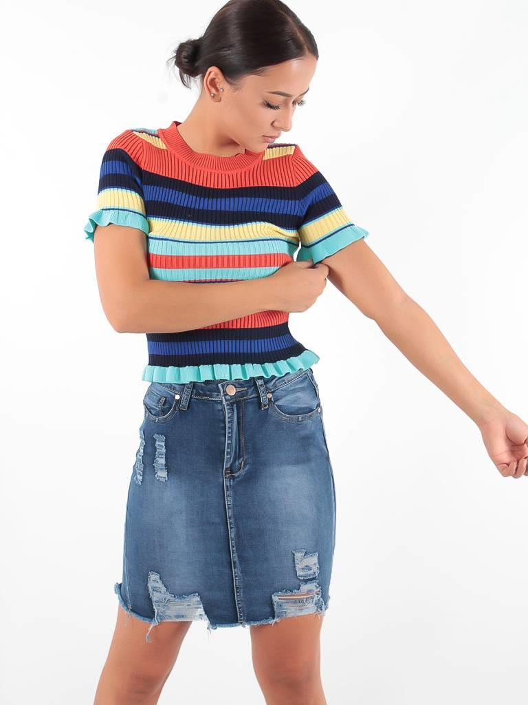 Girl Vivi Jeans skirt short