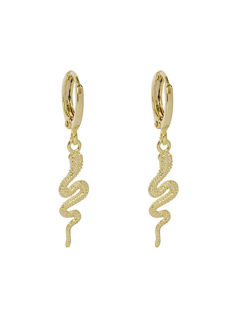 Earrings special snake gold